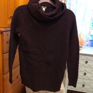 Heavy weight cowl neck sweater